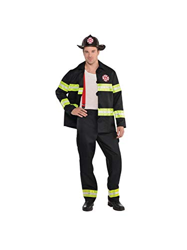 AMSCAN Rescue Me Firefighter Halloween Costume for Men, Large, with Included Accessories