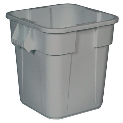 Brute 28-Gal Square Container without Lid [Set of 6] Color: Gray
