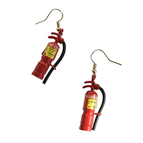 EA-STONE Silver Earrings for Women,Mini Fire Extinguisher Earrings Minimalism Concise Design Ear Pins Jewelry Gift -