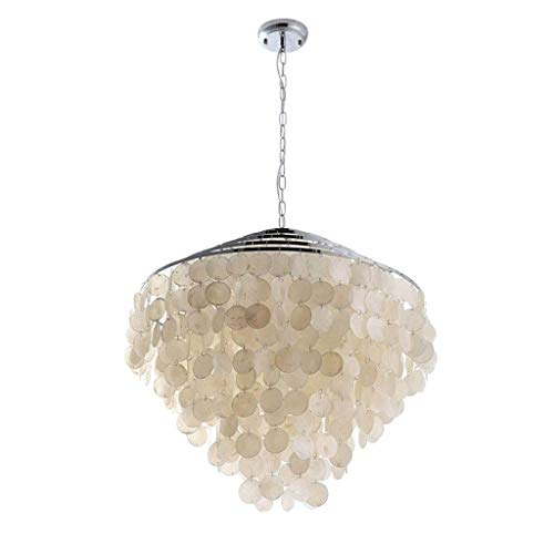 XAJGW Crystal Pendant Lights, Modern Shell Led Ceiling Lamps for Bedroom Living, Dining Room, Cafe Bar, Hallway Decor