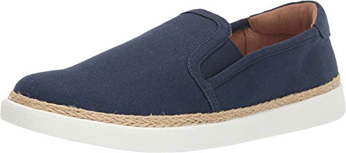 Vionic Women's Sunny Rae Slip-on Sneaker - Ladies Sneakers Concealed Orthotic Arch Support Deep Blue 5 M US