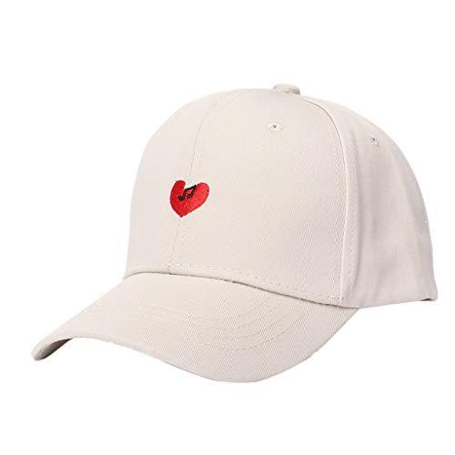 (iPOGP Unisex Outdoor Cotton Embroidered Unisex Baseball Caps Adjustable Washed Dad-Hat(Beige,Adjustable))