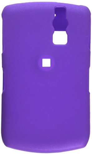Reiko Fashionable Perfect Fit Hard Protector Skin Cover with Belt Clip for Rim Blackberry Curve 8330 - Retail Packaging - Purple