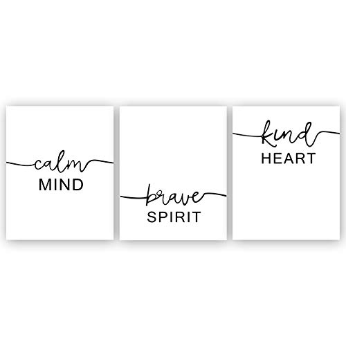 - Sanrx Inspirational Typography Art Print Painting, Letterings Cardstock Art Poster Motivational Quote Prints Wall Art Decor (Set of 3, 8'' x 10'',Unframed)
