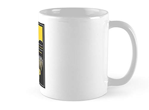 Hued Mia Concord Dawn Art Deco Mug - 11oz Mug - Features wraparound prints - Made from Ceramic - Best gift for family friends (Concord Glass Bowls)