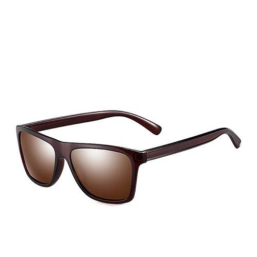 plastique hommes Lunettes pour de Lunettes Sunglasses Brown pêche homme de soleil le Brown voyage TL Eyewear pour en polarisé de C3 guide soleil vXzzqx