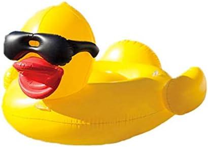 インフレータブルフローティングロー膨脹可能な水泳リングサングラスルバーブダックフローティングベッド膨脹可能な黄色いアヒルフローティング行をマウント