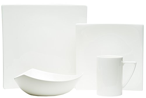 Red Vanilla EW3400-904 4 Piece Extreme Place Setting, White ()