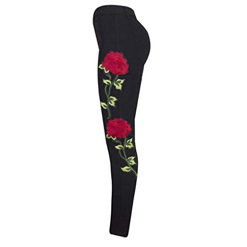 Stretch Rasgado Con Mujer Push Chern Slim Floral Tobillo Pierna Recta Denim Fit Schwarz Bordado Destroyed Ropa Joggers Skinny Jeans Agujeros Lápiz Autumn Relaxed Adelina Up gwx5Tzw