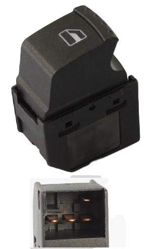 HLY/_Autoparts Interruttore alzacristalli Elettrico per Seat Leon Toledo Alhamra 00-06 VW Sharan 00-06 4 Pins