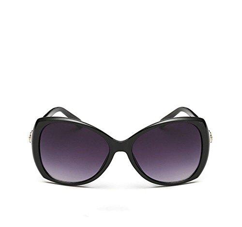 visage CHshop Boîte Noire de soleil longues féminins élégantes lunettes grand Brillante modèles Les rwCqnpIr
