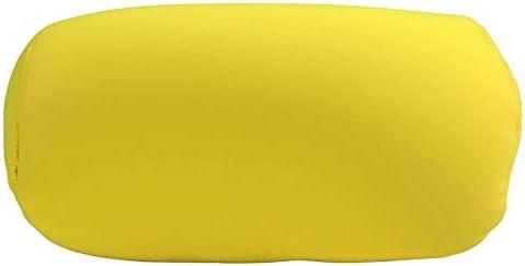 Microbead Travel Beanie Pillow Yellow