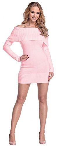 Empire Rose Femme manches encolure Bardot en Glamour Robe longues maille Poudre 909 qp1nxBdP