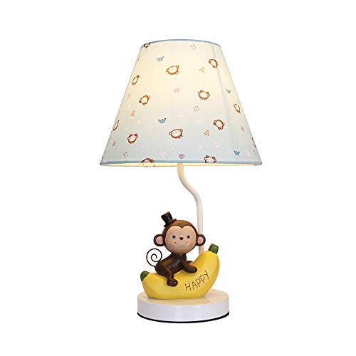 Table Lamp Simple Modern Style Resin Lamp Body Cloth Shade Bedroom Bedside Monkey Children's Desk Lamp Suitable for Living Room Study Bedroom 26cm43cm by Xxdyhk