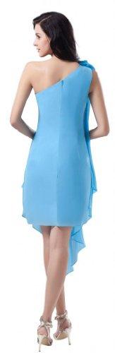 Orifashion para vestido de noche mujer corto azul Azul