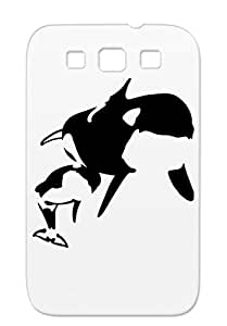 TPU Orcas Sibosssr Wal Marine Life Orca Killer Whale Orque Animals Nature Black Protective Hard Case For Sumsang Galaxy S3
