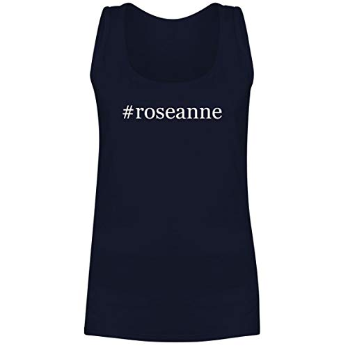 The Town Butler #Roseanne - A Soft & Comfortable Hashtag Women's Tank Top, Navy, X-Large ()