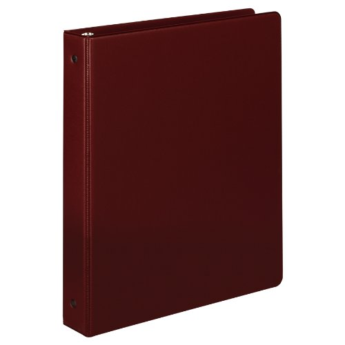 Samsill 1 Inch Value Document Storage 3 Ring Binder, Round Ring, 11 x 8.5 Inches, Maroon (11316) (Maroon Round Ring)