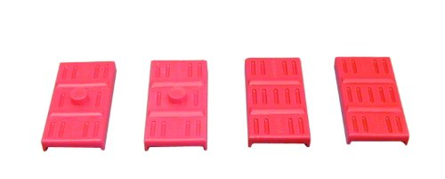 (Prothane 7-1707 Red Rear Upper and Lower Mono Leaf Spring Pad Kit )