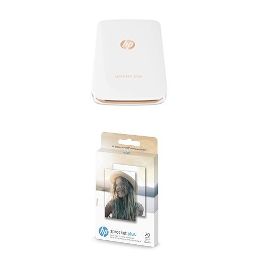 - HP Sprocket Plus Instant Photo Printer, Print 30% Larger Photos on 2.3x3.4