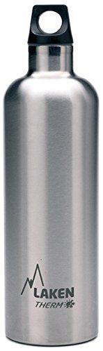 Laken Futura Botella Termica Acero Inoxidable 18/8 y Doble Pared de Vacio, Unisex adulto, Plateado, 750 ml