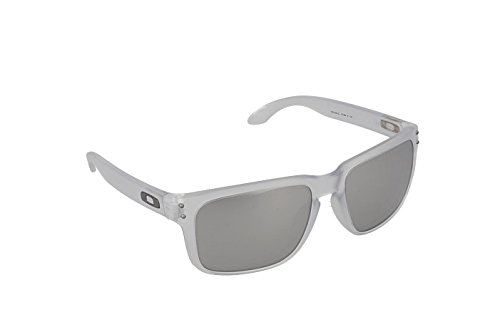 Oakley Men's Holbrook OO9102-A2 Non-Polarized Iridium Rectangular Sunglasses, Matte Clear, 55 - Holbrook Clear