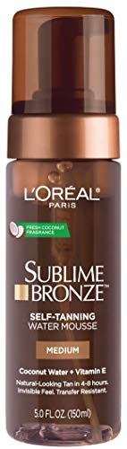 L'Oreal Paris Skin Care Sublime Bronze Hydrating Self-Tanning Water Mousse, 5 Fluid Ounce (Best Smelling Gradual Self Tanner)