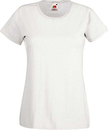 Fruit of the Loom - Camiseta - para mujer Bianco