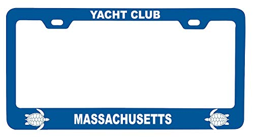 (R and R Imports Yacht Club Massachusetts Turtle Design Souvenir Metal License Plate Frame)