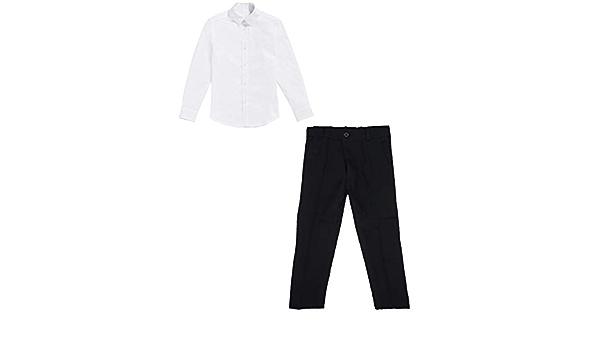 black & white Basic - Camisa y pantalón para niños (8 años ...