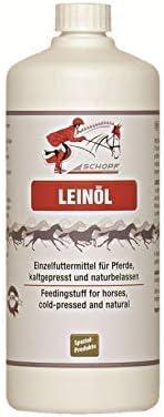 SCHOPF 301222 - Aceite de linaza para Caballos, promueve la vitalidad, 1 l