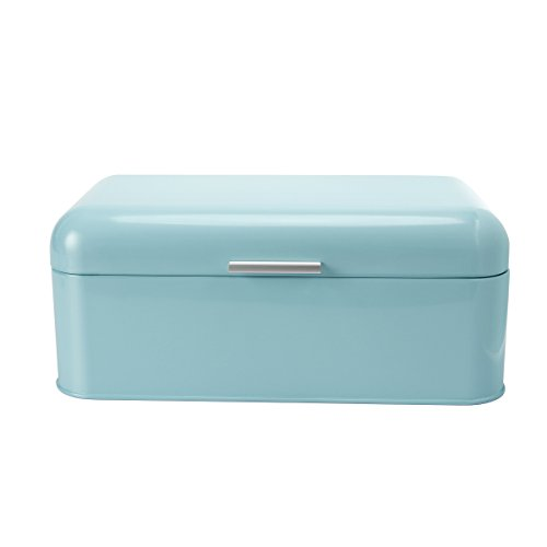 SveBake Bread Box for Kitchen Retro Design Carbon Steel Bread Bin with Powder Coating, Turquoise (Included a Free PDF Baking - Target Eye Glasses