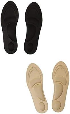 F Fityle 2 Pair Plantillas Masaje Transpirable de Algodón Cómodo Tacones Zapatos: Amazon.es: Deportes y aire libre