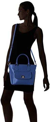Chicca Borse 8855, Borsa a Spalla Donna, 37x25x17 cm (W x H x L) Blu (Blue)