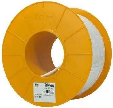 Televes 2141 - Cable coaxial (100 m, White, 75 Ω, Cloruro de ...
