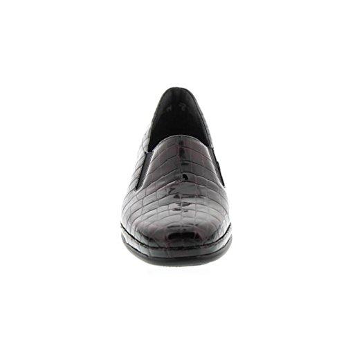 SALE - Semler Damen Schuhe Halbschuhe Slipper in Übergrössen Burgund Schuhe in Übergrößen Rot