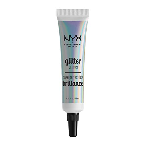 NYX PROFESSIONAL MAKEUP Glitter Primer, 0.33 Fluid Ounce (Best Way To Apply Mac Face And Body)