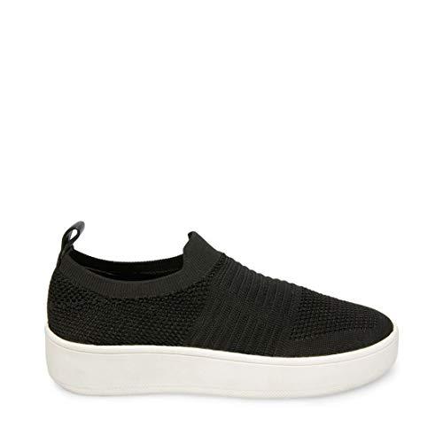 Steve Madden Women's Beale Sneaker, Black, 8 M US