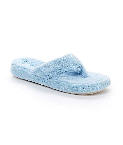 Acorn Womens Spa Thong Slipper, Powder Blue, XX-Large/11-12 M US