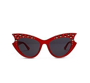 YLYZJH Gafas de Sol con Remaches Gafas de Sol con Ojo de ...