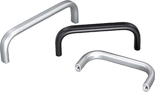 Kipp 06918-100053 Aluminum Oval Pull Handle with M5 Internal Thread, Matt Natural Anodized Finish, 108 mm Length, Metric, 40 mm (108 Matt)