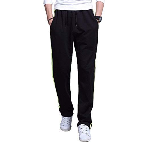 Qk Black gelb Casual A Pantaloni lannister Laterali Uomo Ragazzo Sportivi Tasche Righe wqvwPr