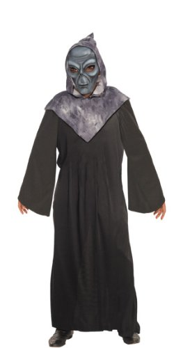 Rubie's Costume Alien Hooded Robe With Mask, Black/Grey, Standard for $<!--$39.99-->