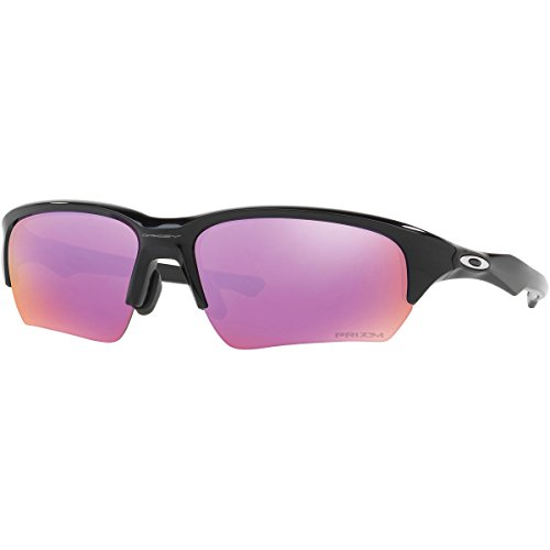 Oakley Men's OO9372 Flak Beta Asian Fit Rectangular Sunglasses, Polished Black/Prizm Golf, 65 mm (Oakley Asian Fit Damen)