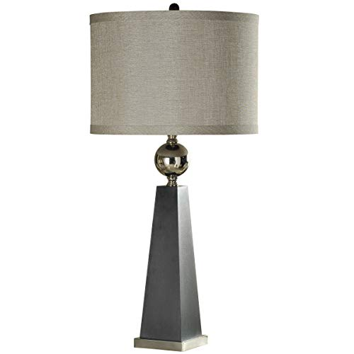 Collective Design 720354120918 Table Lamp, Gray and Chrome
