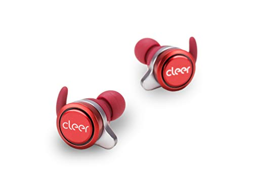 Cleer Ally Wireless Earbuds, Extended Battery Life Up to 10 Hours, Bluetooth Headphones (Red) (Wireless Earbuds Best Battery Life)