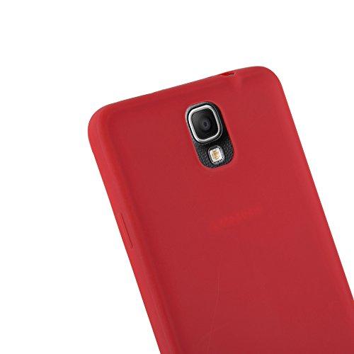 Cadorabo - Cubierta protectora Samsung Galaxy NOTE 3 (N9006) de silicona TPU en diseño Candy - Case Cover Funda Carcasa Protección en CANDY-ROSA ROJO-CANDY