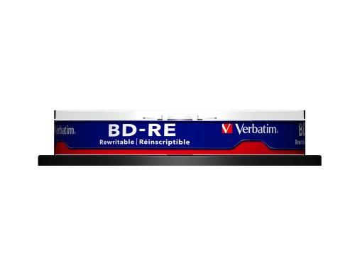 Verbatim BD-RE 25GB 2X with Branded Surface - 10pk Spindle 43694
