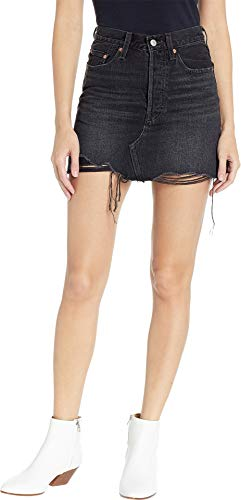 Levi's Women's Deconstructed Skirt, Ill Fated, Black, 28