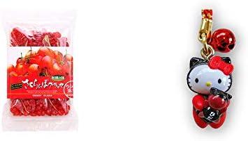 [2点セット] 収穫の朝 さくらんぼグラッセ ラム酒風味(180g)・飛騨さるぼぼだっこキティ 根付(ストラップ) / 子宝・安産祈願 //